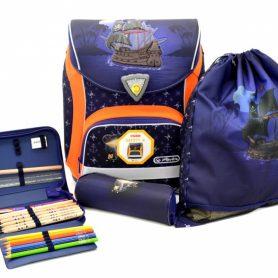 školská taška s výbavou pirát